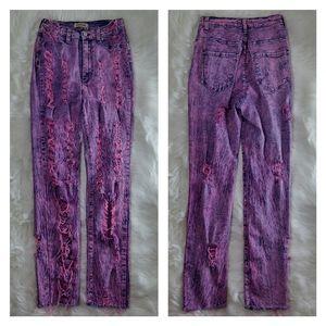 Aphrodite acid wash soft destroyed skinny jeans 11